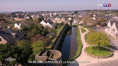 Vu du ciel : Guérande et la Baule confinées
