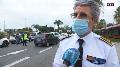 Week-end confiné à Nice : la promenade des Anglais déserte