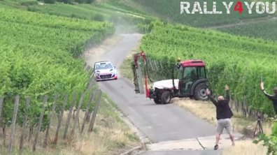 WRC : Neuville manque de percuter un tracteur en essais