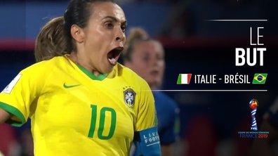 Italie - Brésil (0 - 1) : Voir le but de Marta sur penalty en vidéo