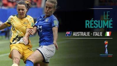 Australie - Italie : Voir le résumé du match en vidéo