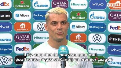 Granit Xhaka (Suisse) évoque les qualités de Pogba et Kanté avant France-Suisse