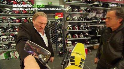 Exclusivité : Gérard Depardieu essaye le nouveau Yamaha TMAX