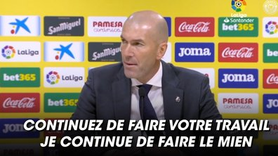 VIDEO – Zidane s'agace après une question d'un journaliste