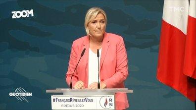 Zoom : à Fréjus, Marine Le Pen retrouve les pas de son père