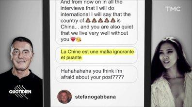 Zoom : accusée de racisme, Dolce & Gabbana fâche la Chine