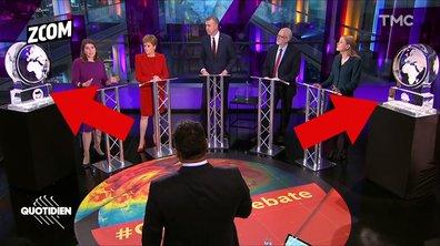 Zoom : Boris Johnson et Nigel Farage remplacés par.. des blocs de glace à un débat sur le climat