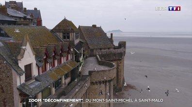 Zoom : confinement, du Mont-Saint-Michel à la Cité corsaire de Saint-Malo