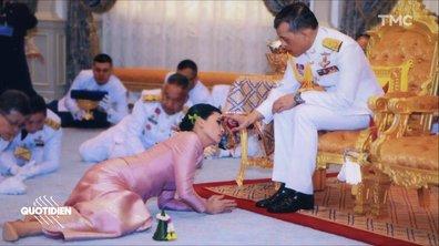 Zoom : les étranges photos de mariage du roi de Thaïlande
