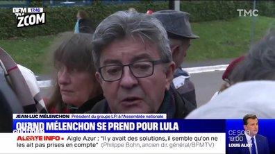 Zoom : l'opération de com' de Jean-Luc Mélenchon au Brésil à 10 jours de son procès