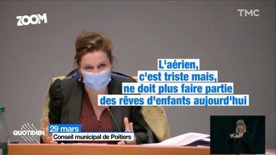 Zoom : la maire écolo de Poitiers déclenche une polémique après ses propos sur l'aviation