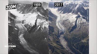 Zoom : outre la mer de glace, le reste du Mont Blanc aussi est en danger