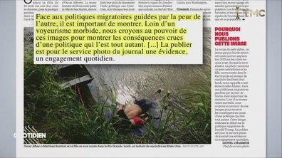 Zoom : pourquoi diffuser la photo du père et de sa fille noyés à la frontière américaine ?