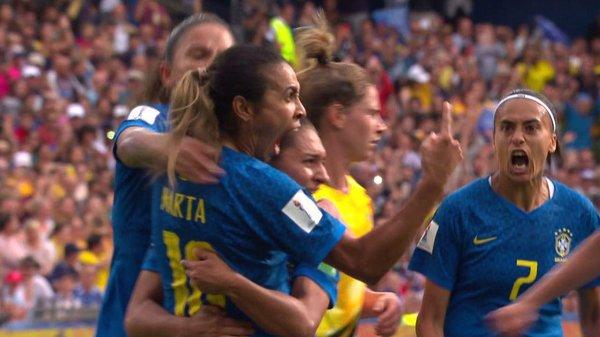 Coupe du Monde Féminine de la FIFA, France 2019 - Voir le but de Marta / Australie - Brésil