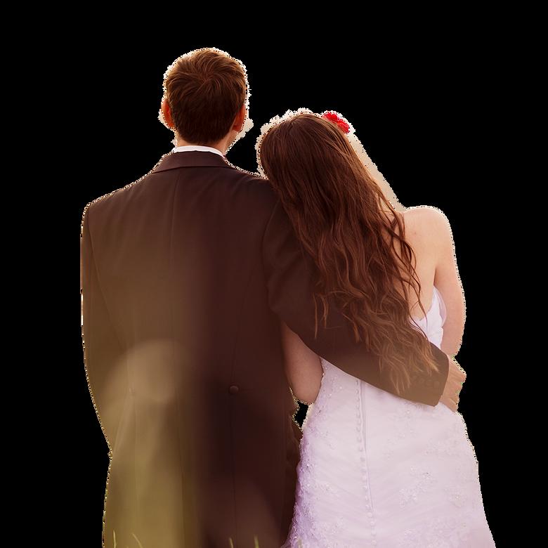 premier plan Bienvenue aux mariés