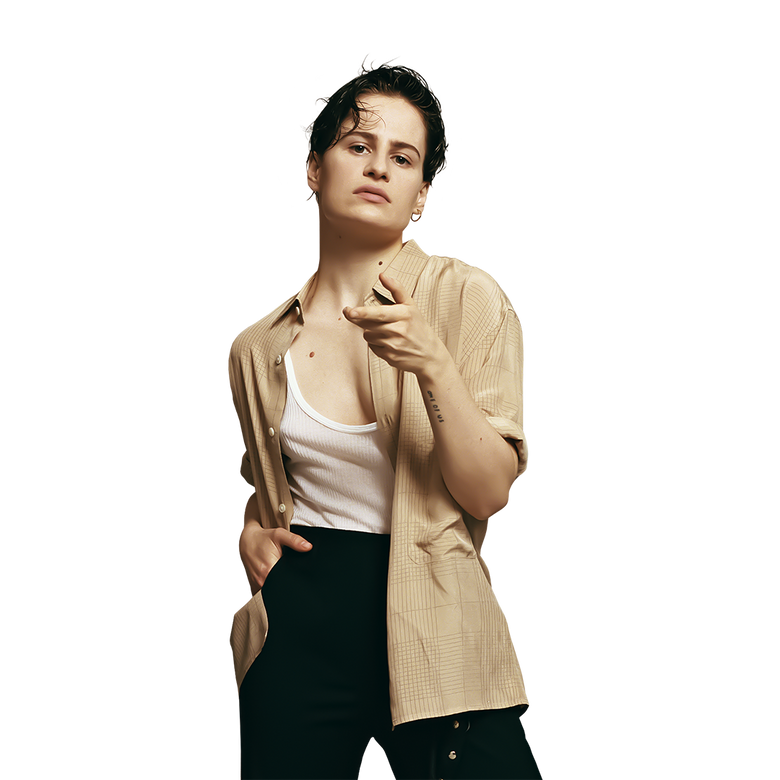 premier plan Christine and The Queens
