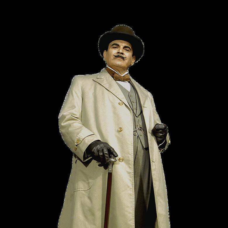 premier plan Hercule Poirot