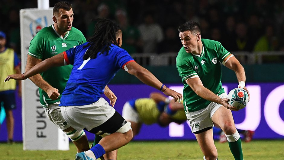 L'Irlande se qualifie pour les quarts (47-5)