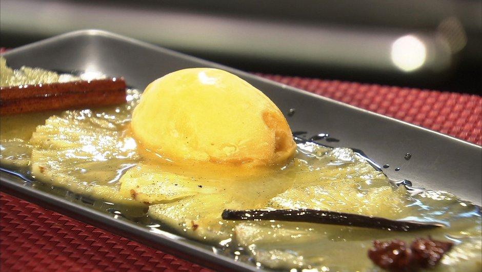 carpaccio-d-ananas-caramel-epice-sorbet-mangue-6619339