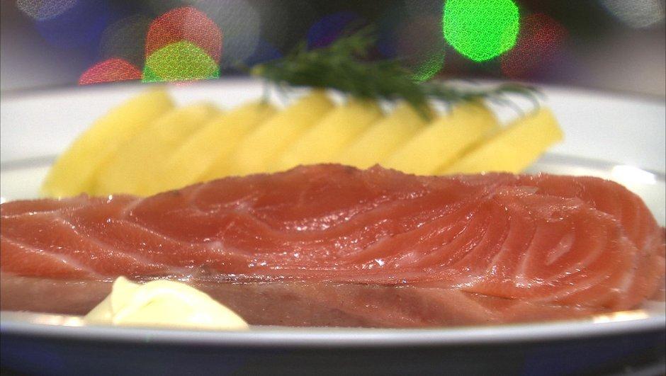 Saumon mariné à la cardamome façon gravlax