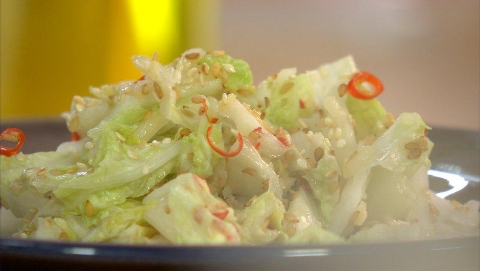 Chou chinois pimenté, façon kimchi