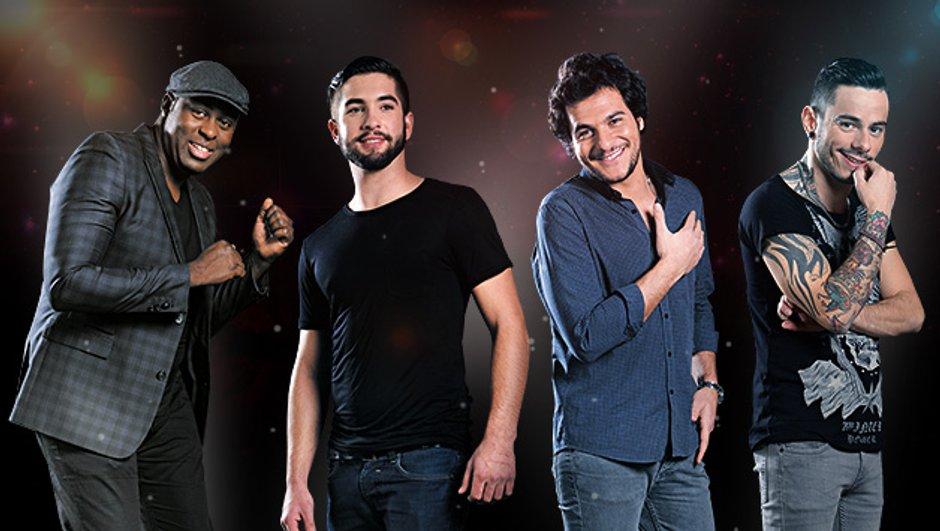 The Voice 3 - Les finalistes Amir, Kendji, Maximilien et Wesley en images