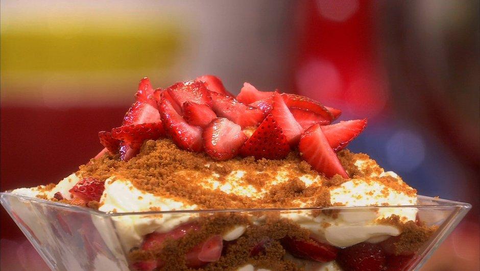 Trifle aux fraises, philadelphia et spéculoos