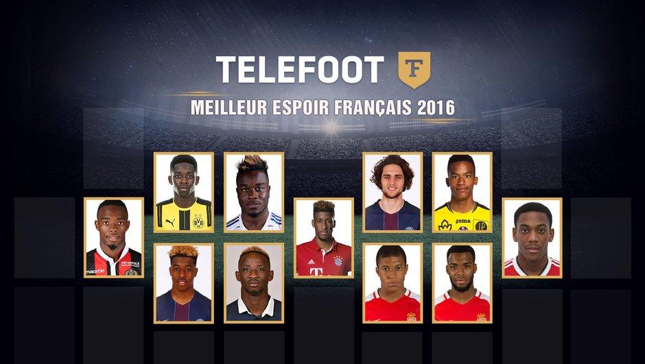 Trophée Téléfoot : Elisez le meilleur espoir français 2016 !