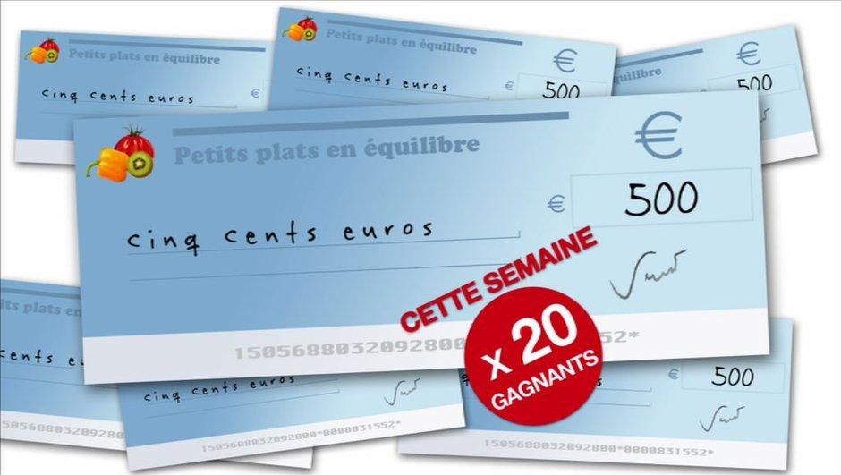 20 chèques de 500 euros