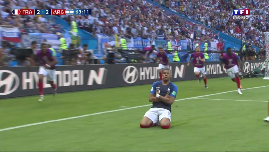 VIDÉO - France-Argentine : le but de Mbappé qui fait repasser les Bleus devant
