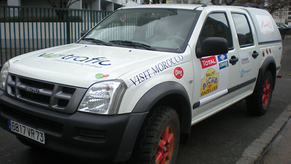 Rallye des Gazelles 2009 : Le 4x4 Isuzu des Naviget's