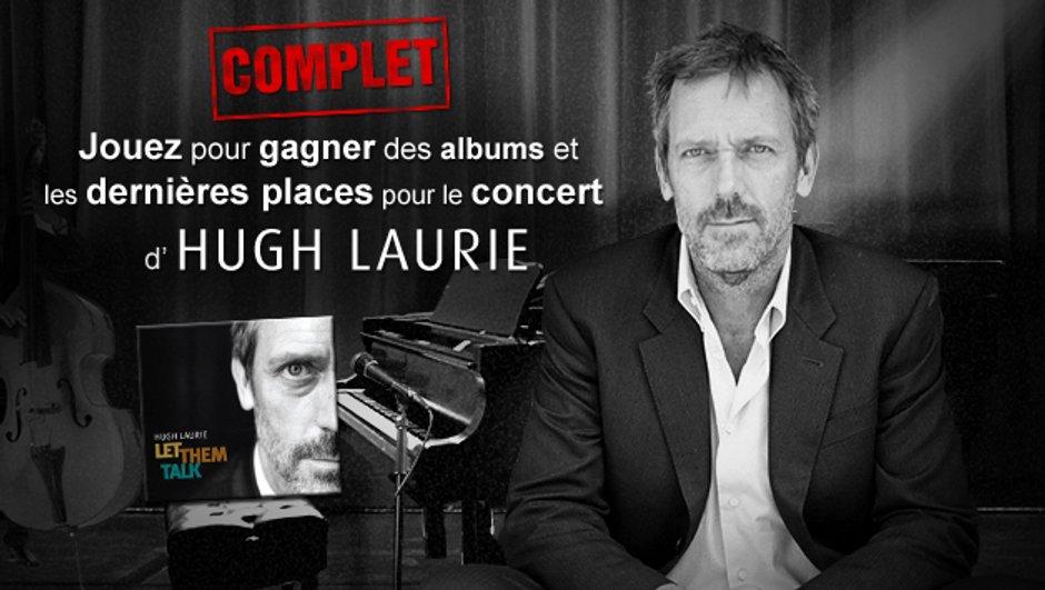 Gagnez les dernières places pour le concert parisien d'Hugh Laurie en exclusivité sur TF1.fr