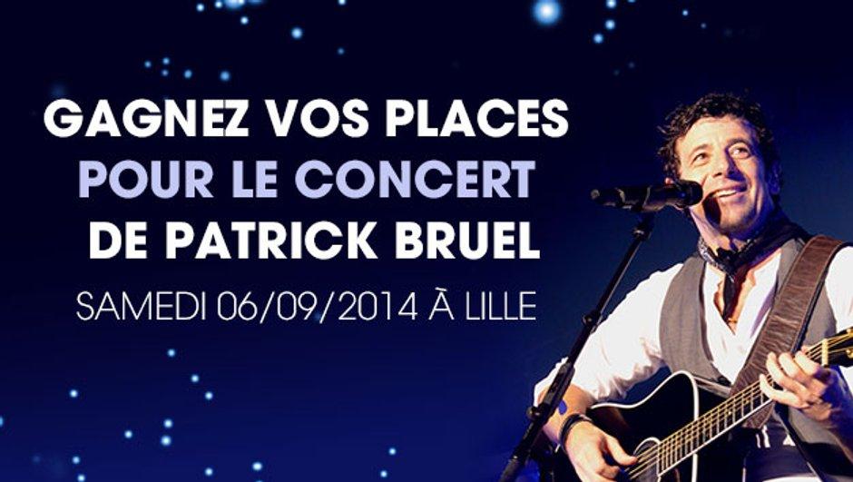 MYTF1 vous offre vos places pour voir Patrick Bruel en concert, samedi 6 septembre à Lille