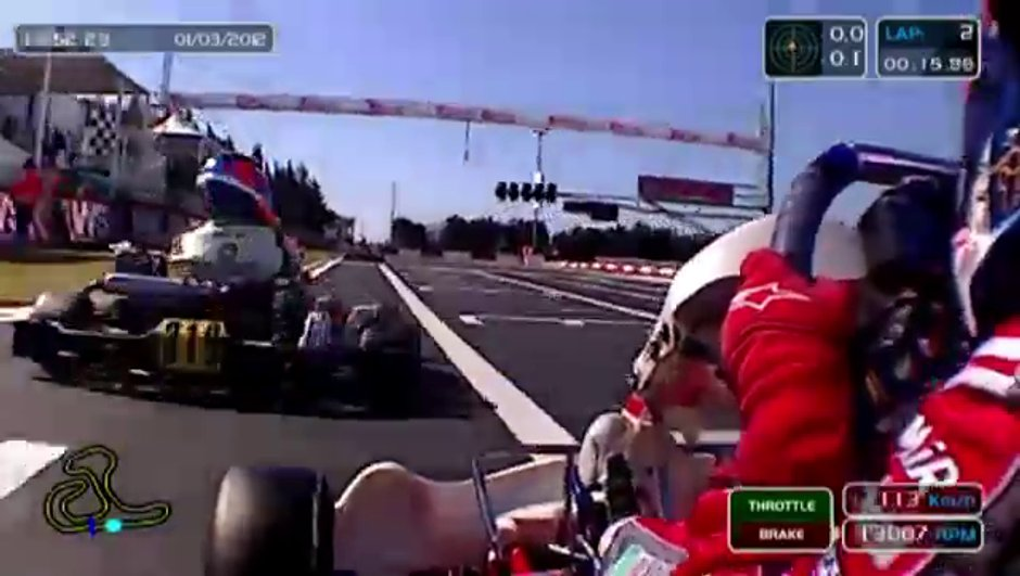 Insolite : un crash en karting à 114 km/h !