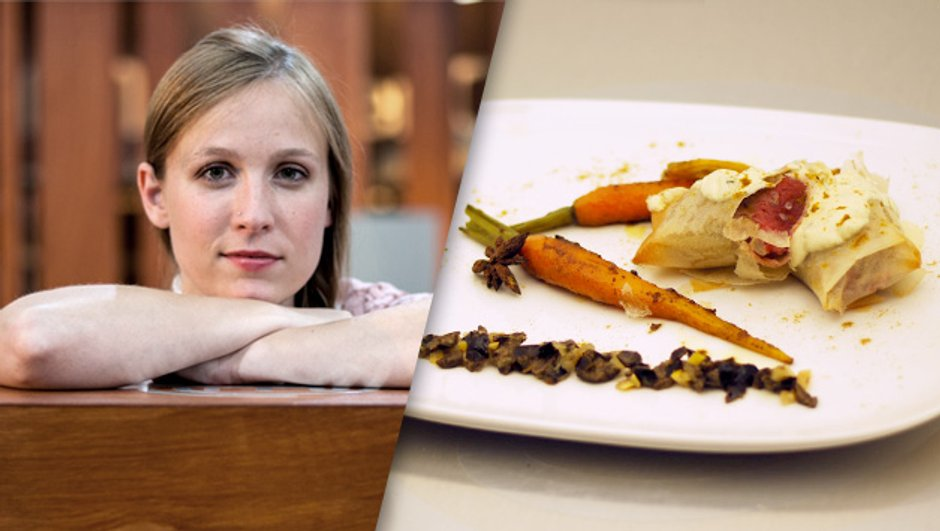 """"""" Nems de filet d'agneau, carottes confites aux épices """", Emma"""