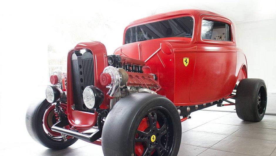 Occasion insolite du jour : Un Hot Rod Ferrari de 950 chevaux !