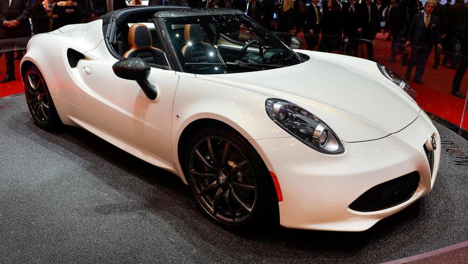 Salon de Genève 2014 : Alfa Romeo 4C Spider Concept, le mini-supercar se déshabille