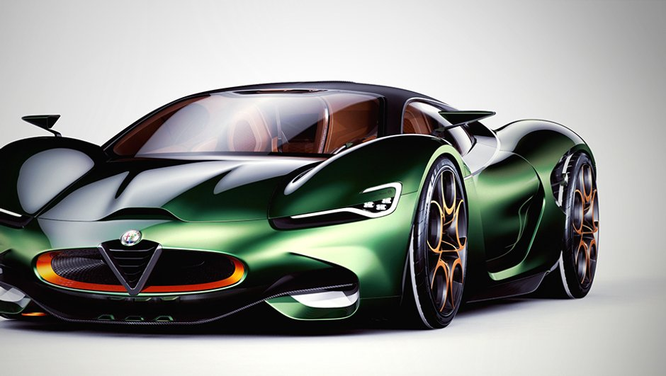 Un designer imagine la supercar Alfa Romeo Furia