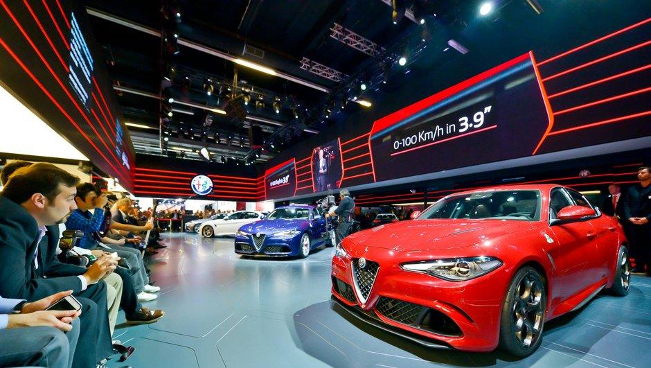 Salon de Francfort 2015 : Alfa Romeo Giulia Quadrifoglio, puissance à l'italienne