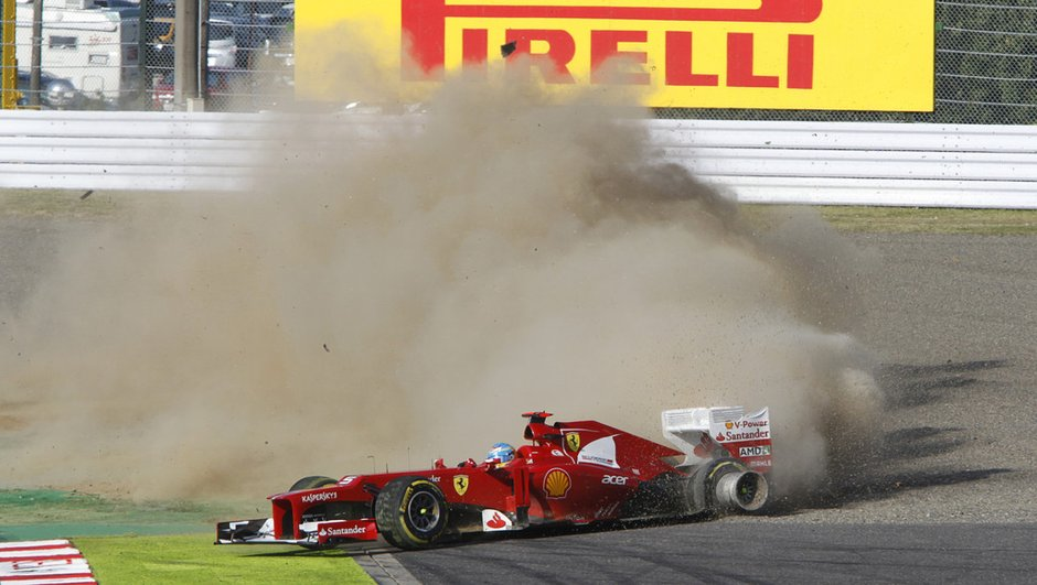 F1 GP Japon : Abandon d'Alonso, Vettel s'envole