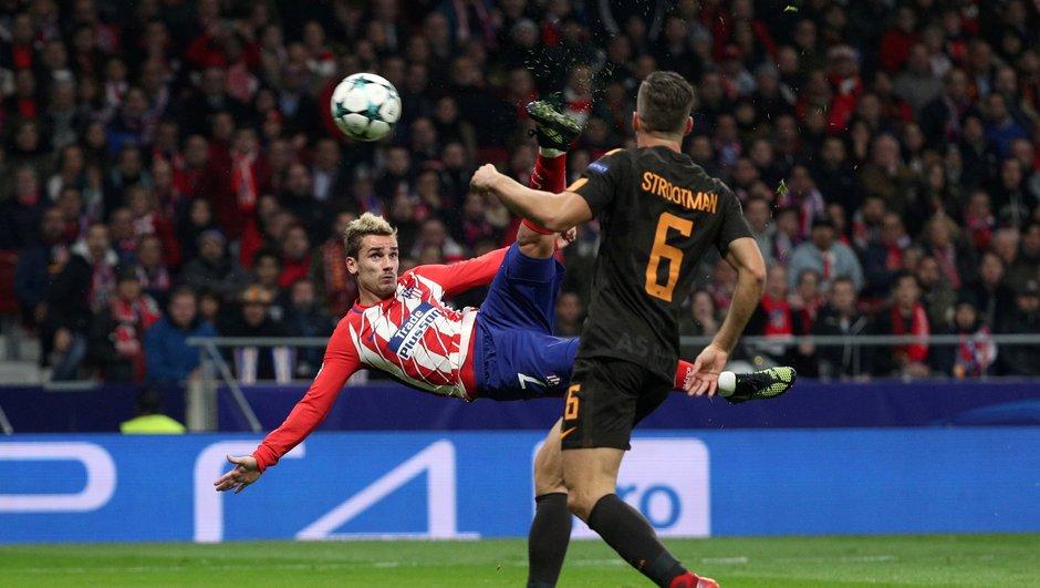 Ligue des champions - Atlético / AS Roma (2-0) - Griezmann claque un ciseau époustouflant et retrouve le sourire : son but en image (VIDEO)
