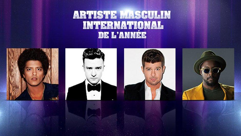NRJ Music Awards - Artiste Masculin International de l'année : les nominés