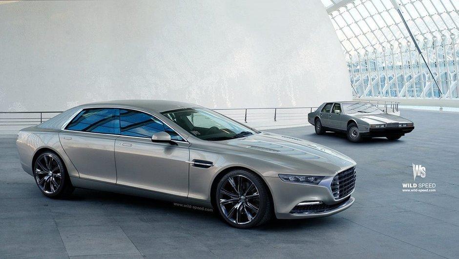 La future Aston Martin Lagonda illustrée