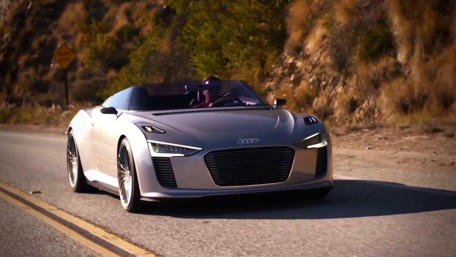 Vidéo : Audi e-tron Spyder en balade à Malibu