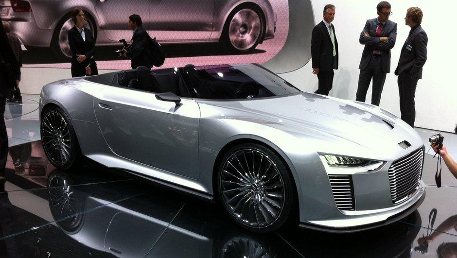 Mondial de l'Auto 2010 : Concept Audi e-Tron Spyder, des courbes pures et futuristes