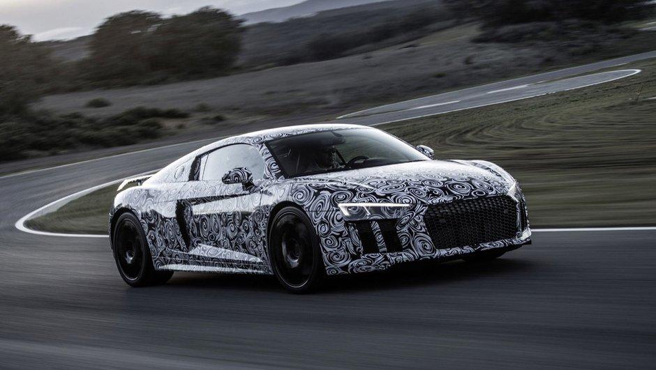 Future Audi R8 : des photos, et jusqu'à 610 chevaux !