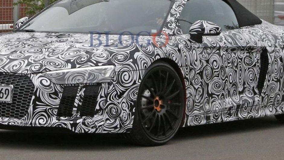 L'Audi R8 Spyder prête pour le Salon de Francfort 2015 ?
