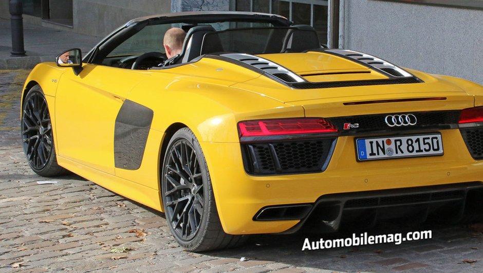 La future Audi R8 Spyder 2016 surprise en tournage ?