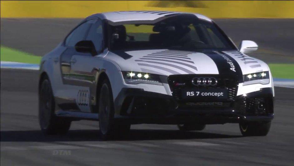 Insolite : un concept Audi RS7 totalement autonome poussé à la limite sur circuit !