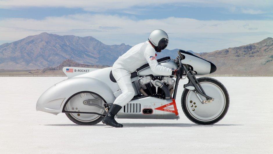 L'aventure du Grand Lac Salé de Bonneville au guidon du concept-bike B-Rocket